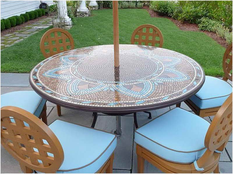 Round Patio Table Cover Vintage Styles Patio Project Design